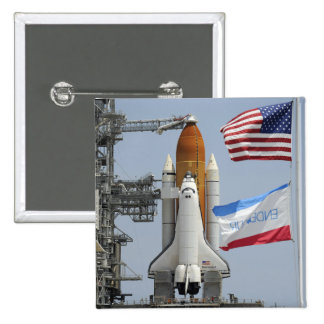 Space Shuttle Endeavour on the launch pad 3 Button