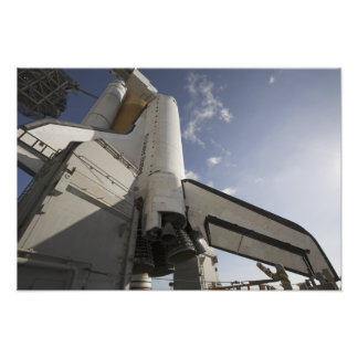 Space Shuttle Endeavour on the launch pad 3 Photo Print