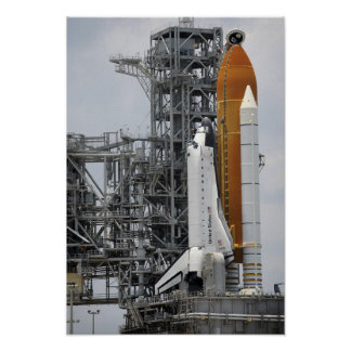 Space Shuttle Endeavour on the launch pad 3 Print