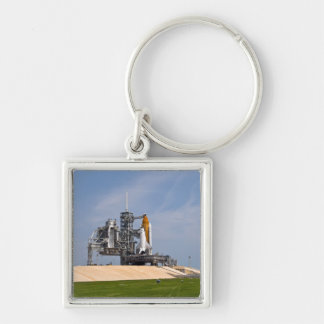 Space Shuttle Endeavour on the launch pad 4 Keychain