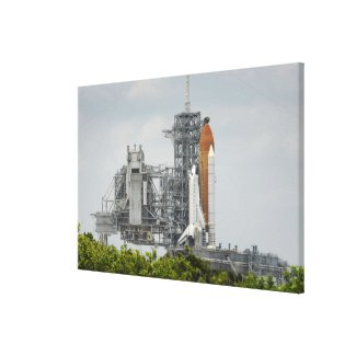 Space Shuttle Endeavour on the launch pad 5 Canvas Print