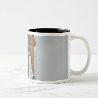 Space Shuttle Endeavour on the launch pad 5 Two-Tone Coffee Mug