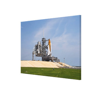 Space Shuttle Endeavour on the launch pad Canvas Print