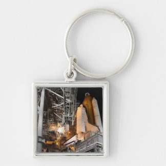 Space Shuttle Endeavour on the launch pad Keychain