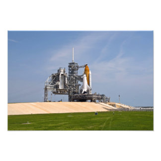 Space Shuttle Endeavour on the launch pad Photo Print