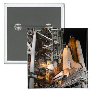 Space Shuttle Endeavour on the launch pad Pinback Button