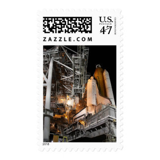 Space Shuttle Endeavour on the launch pad Postage