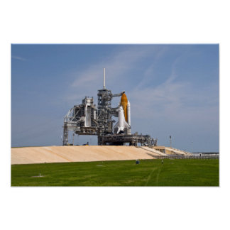Space Shuttle Endeavour on the launch pad Posters