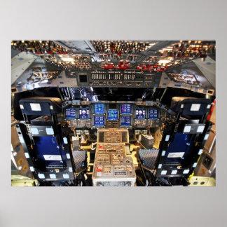 Space Shuttle Endeavour OV-105 Cockpit Print