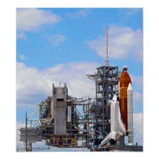 Space Shuttle Endeavour painting poster