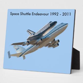 Space shuttle Endeavour Plaque