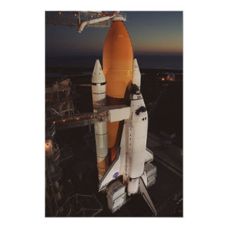 Space Shuttle Endeavour Prepares for Launch Poster
