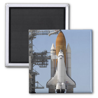 Space Shuttle Endeavour sits ready 2 Inch Square Magnet