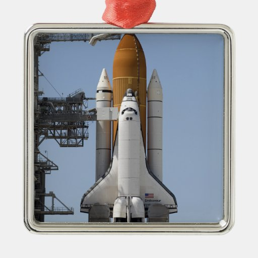 Space Shuttle Endeavour sits ready Ornament