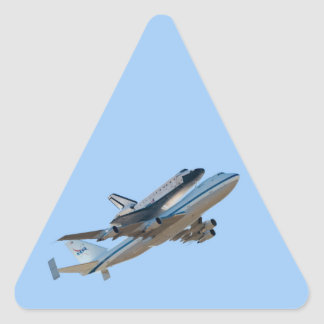 Space shuttle Endeavour Triangle Sticker