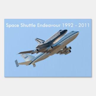 Space shuttle Endeavour Lawn Sign