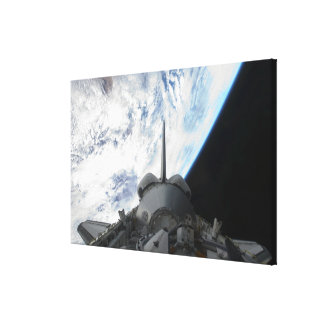 Space Shuttle Endeavour's payload bay 2 Canvas Print