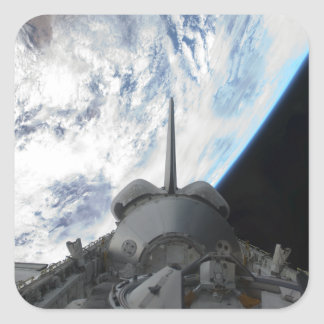 Space Shuttle Endeavour's payload bay 2 Square Sticker
