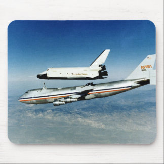 Space Shuttle Enterprise rises from NASA's 747 Mouse Pad