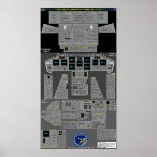 Space Shuttle Flight Deck Poster