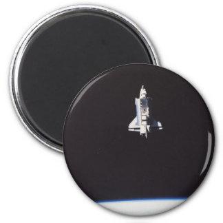 Space Shuttle in Orbit 2 Inch Round Magnet
