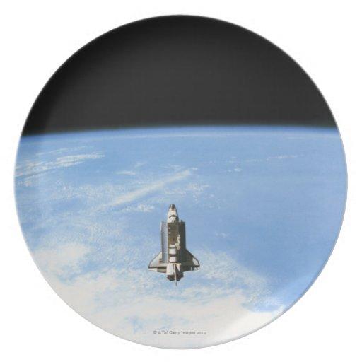 Space Shuttle in Orbit 3 Dinner Plate