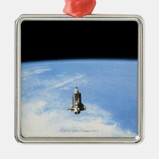 Space Shuttle in Orbit 3 Metal Ornament
