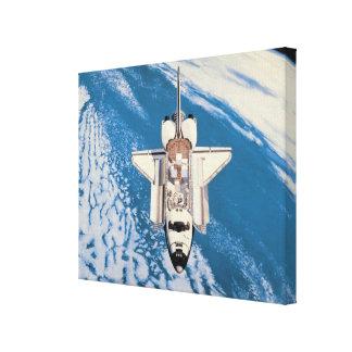 Space Shuttle in Orbit Canvas Print