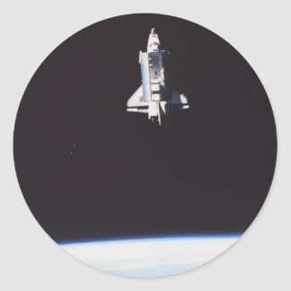 Space Shuttle in Orbit Classic Round Sticker