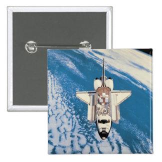 Space Shuttle in Orbit Pinback Button