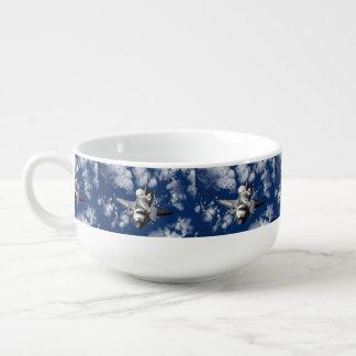 Space Shuttle In Orbit Soup Mug
