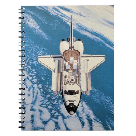 Space Shuttle in Orbit Spiral Notebook
