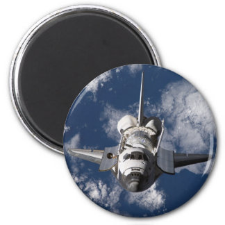 Space Shuttle in Orbiting Earth 2 Inch Round Magnet