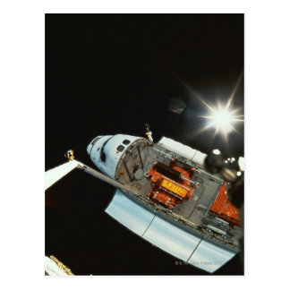 Space Shuttle in Space Postcard