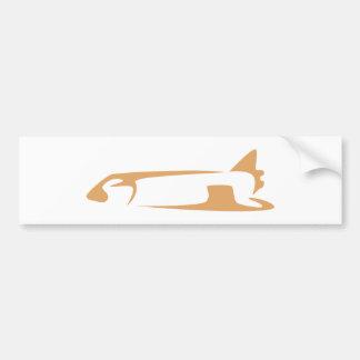 Space Shuttle in Swish Drawing Style Bumper Sticker