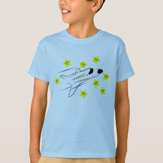 Space Shuttle Kids Pale Blue T-Shirt