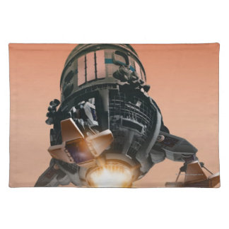 Space Shuttle Landing 5 Cloth Placemat