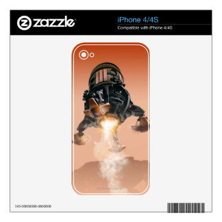 Space Shuttle Landing 5 Decal For iPhone 4