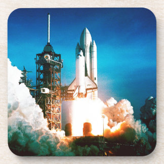 SPACE SHUTTLE LAUNCH BEVERAGE COASTER