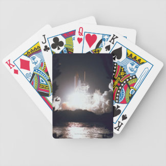 Space Shuttle Launch Bicycle Playing Cards