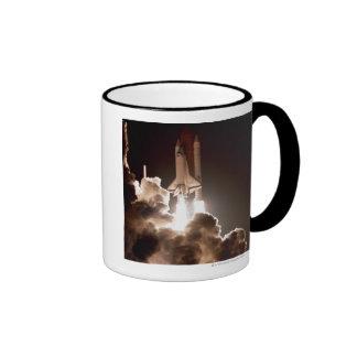 Space shuttle launch coffee mugs