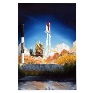 Space Shuttle Launch Dry Erase White Board