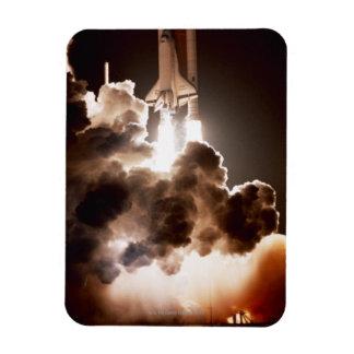 Space shuttle launch flexible magnet