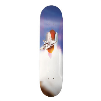 Space Shuttle Launch Illustration Skateboard Deck