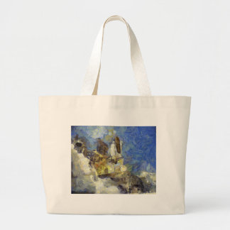 space shuttle launch large tote bag