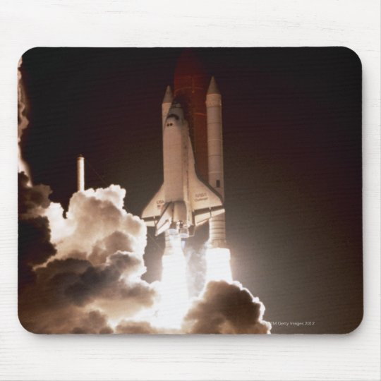 Space shuttle launch mouse pad