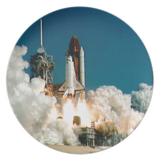 SPACE SHUTTLE LAUNCH - NASA ROCKET PHOTO MELAMINE PLATE