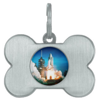 SPACE SHUTTLE LAUNCH PET ID TAG