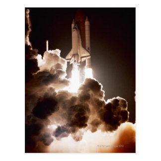 Space shuttle launch postcard