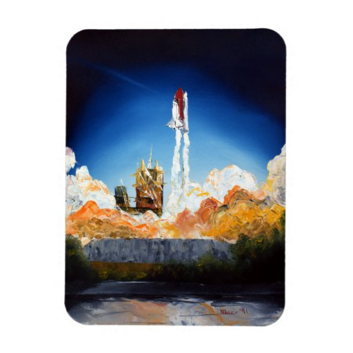 Space Shuttle Launch Rectangle Magnet